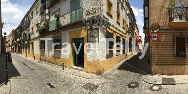 Panorama from the streets of Seville Spain