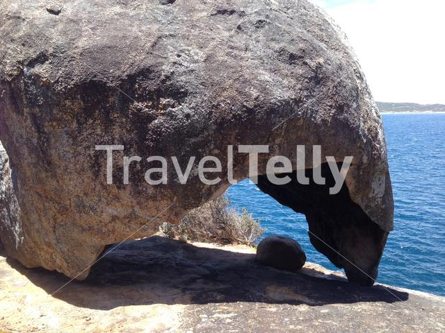 Lucky Bay with a big rock at Cape Le Grand National Park Australia