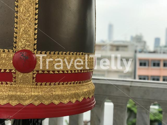 Bell at the Wat Trai Mit Golden Buddha Temple