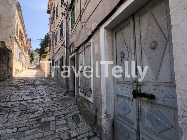 Street in the old town of Pula, Croatia
