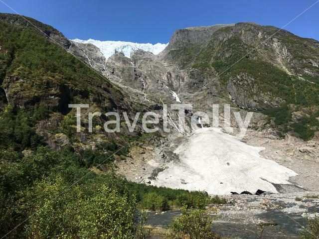 The Supphellebreen and Flatbreen in Jostedalsbreen National Park in Norway.