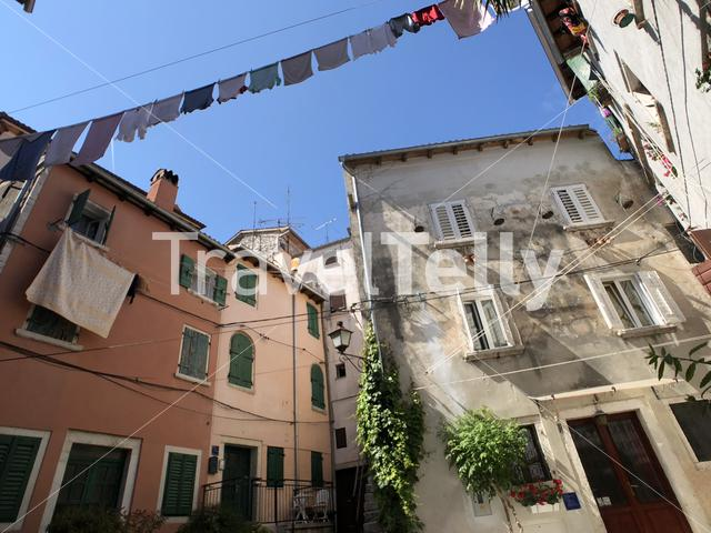 Laundry in the old town of Rovinj Croatia