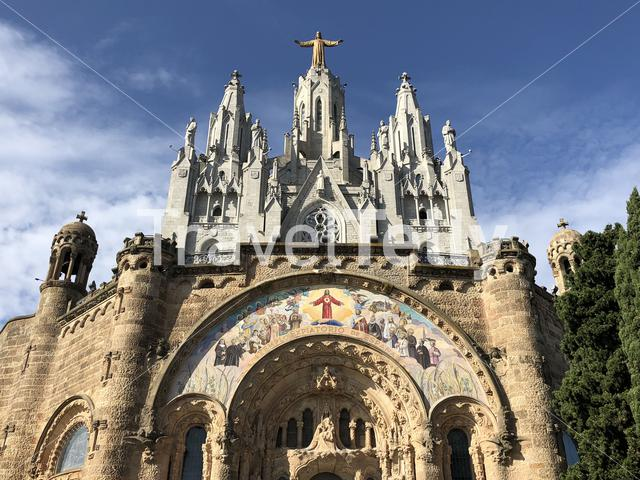 Expiatory Church of the Sacred Heart of Jesus in Barcelona, Spain