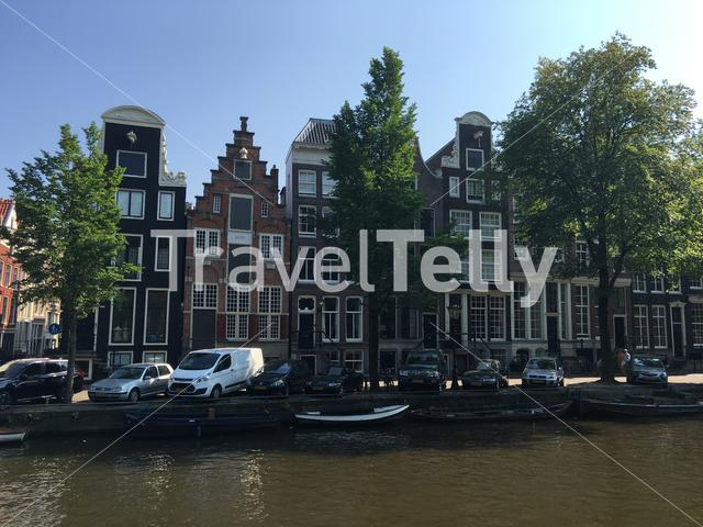 Architecture along the canals in Amsterdam The Netherlands