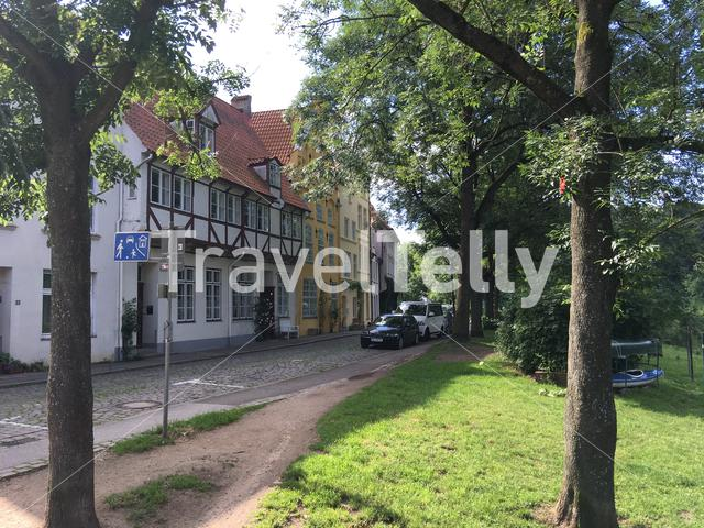 Houses in the old town of Lübeck Germany