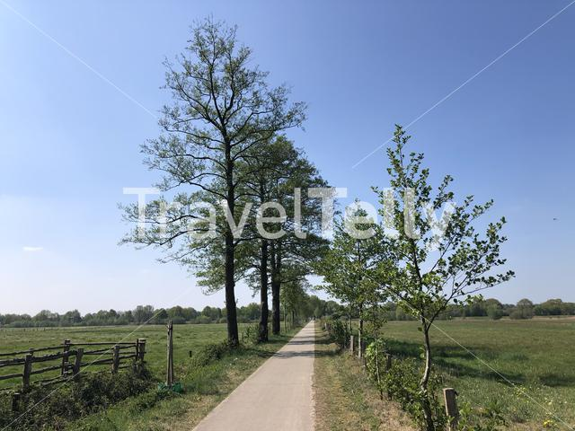 Bicycle path around Ommen in The Netherlands
