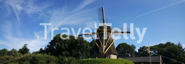 Panorama from the Besthmenermolen a traditional Dutch windmill in Ommen The Netherlands