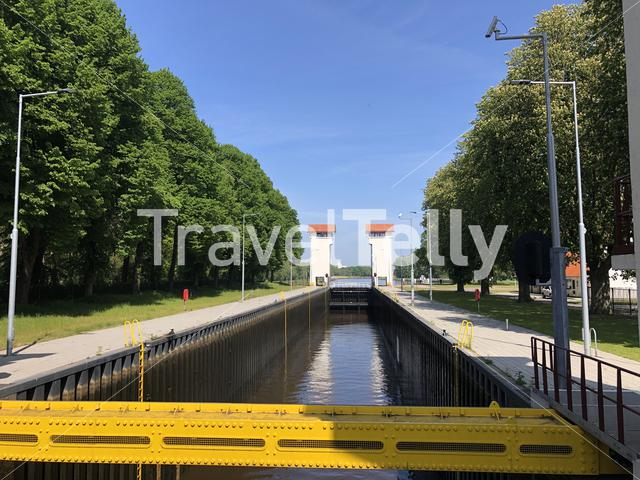 Canal lock at the twente canal around Delden in The Netherlands