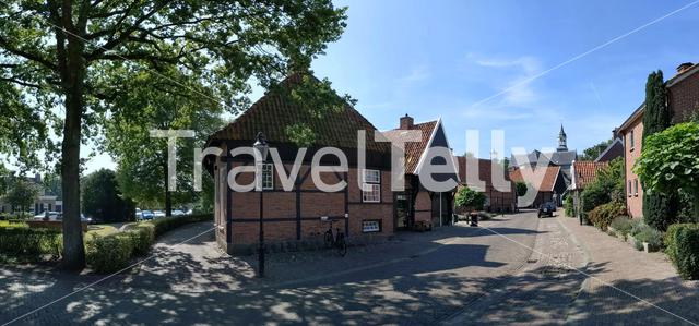 Panoramic view from the old town of Ootmarsum, The Netherlands