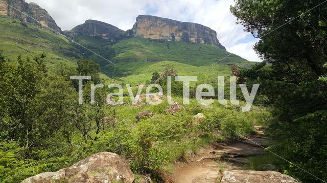 Hiking path at Royal Natal National Park in South Africa in South Africa