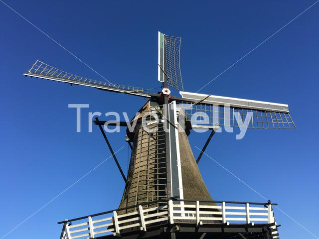 Old windmill in Sloten Friesland The Netherlands