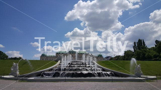 Fountain in garden of Belvedere Palace