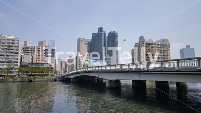 Brigde over the Love River in Kaohsiung City Taiwan