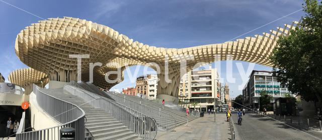 Panorama from Metropol Parasol in Seville Spain