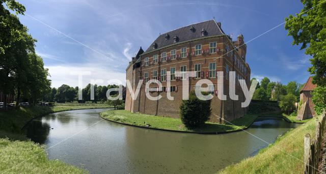 Panorama from Huis Bergh castle in 's-Heerenberg, The Netherlands