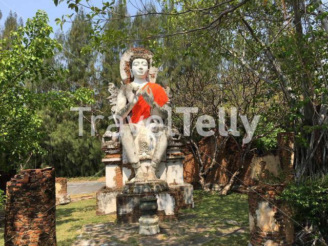 The Buddha Image of Dvaravati Period In Ancient Siam Bangkok Thailand
