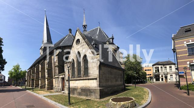 Panorama from St. Pancratius  church in Haaksbergen, The Netherlands