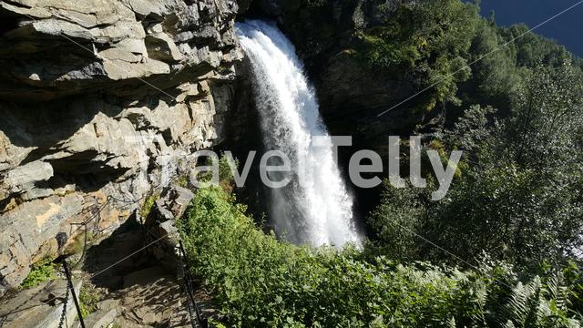 Waterfall at Geiranger national park in Norway