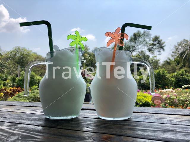 Lemon ice drink in Thailand