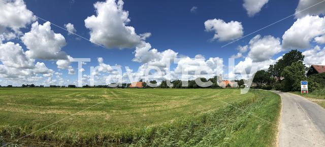 Panorama from Deinum in Friesland The Netherlands