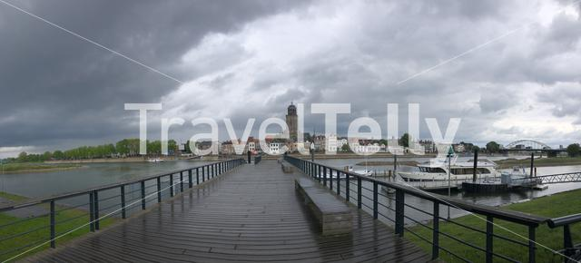 Deventer panoramic on a cloudy day