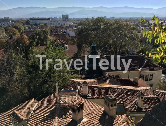 View from the Ancient Theatre in Plovdiv Bulgaria