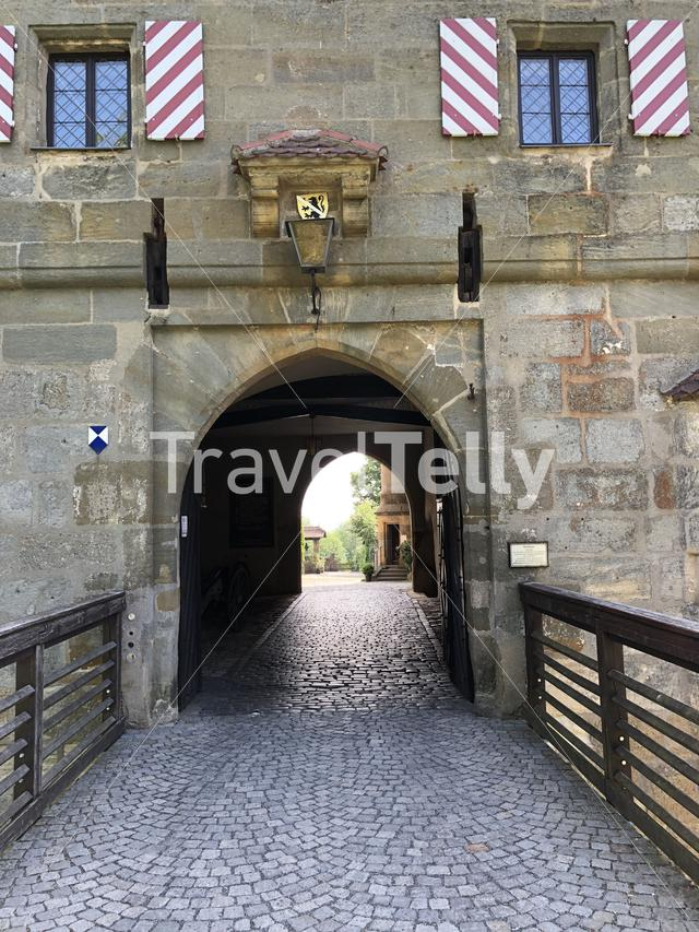 Entrance of the the Altenburg Castle in Bamberg Germany