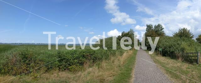 Path around Morra lake in Friesland The Netherlands