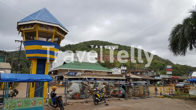 Central station in TayTay, Palawan, Philippines