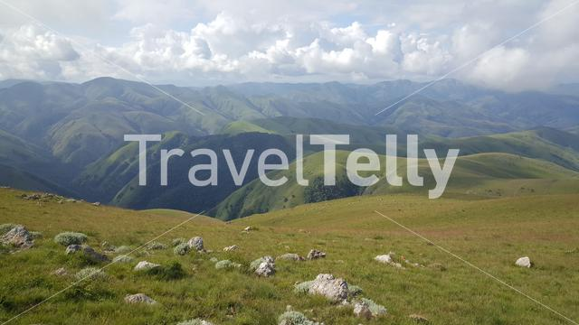 Scenery from Emlembe the highest mountain in Eswatini