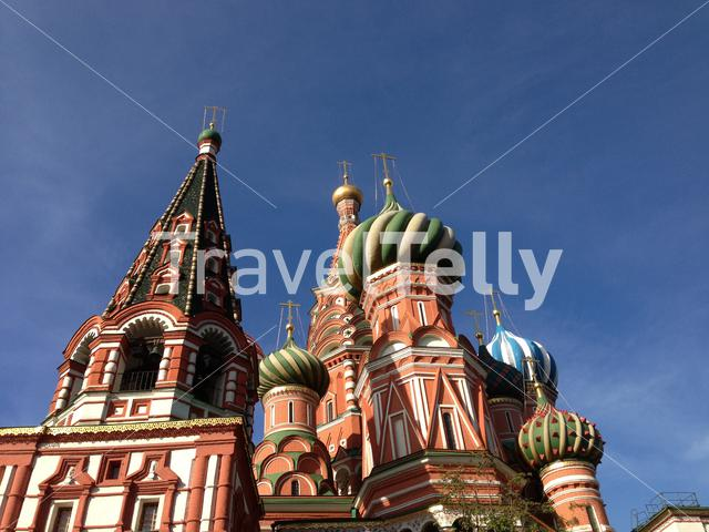 Saint Basil's Cathedral is a church at the Red Square in Moscow, Russia