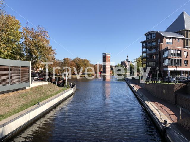 Canal around the old town of Emden Germany