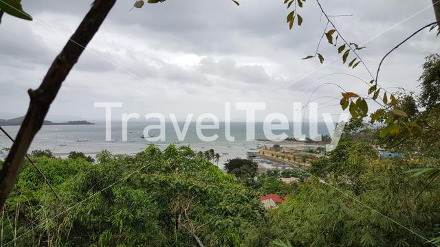 Overview of TayTay, Palawan, Philippines