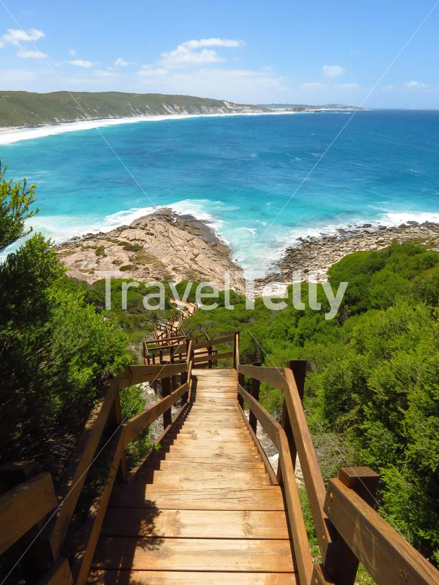 Steps to the beach in Esperance Western Australia