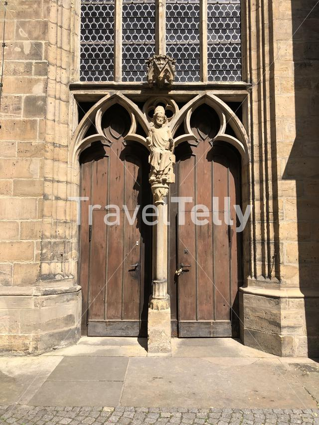 Door at the St. Severi church in Erfurt, Germany
