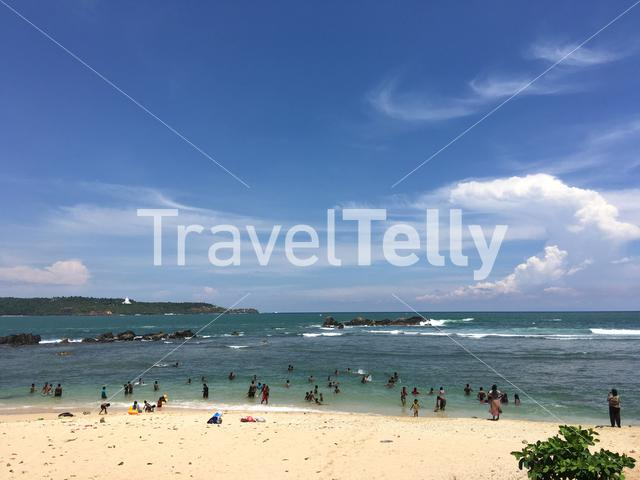 Beach in front of Fort Galle in Sri Lanka
