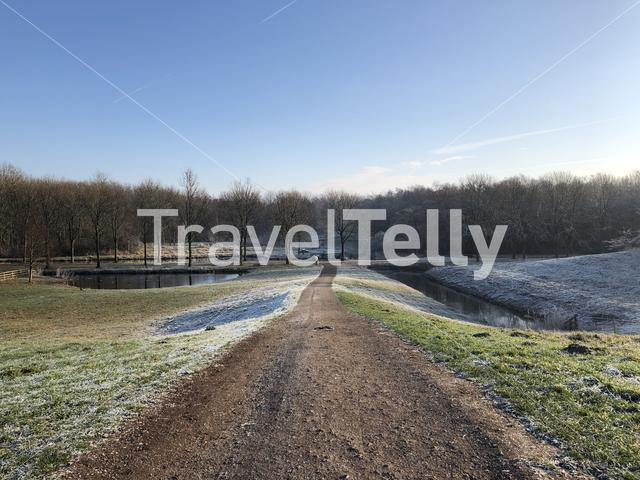 Winter at the Mayor Rasterhoffpark in Sneek, Friesland The Netherlands
