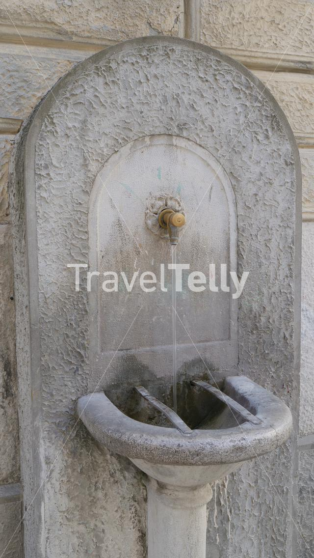 Old fountain in Italy