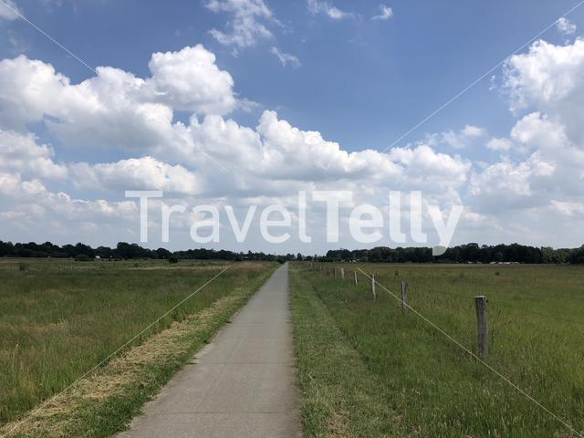 Bicycle path towards Ommen in Overijssel, The Netherlands