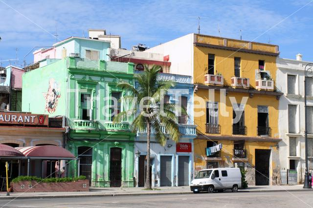 Colorful architecture in street of Havana, Cuba