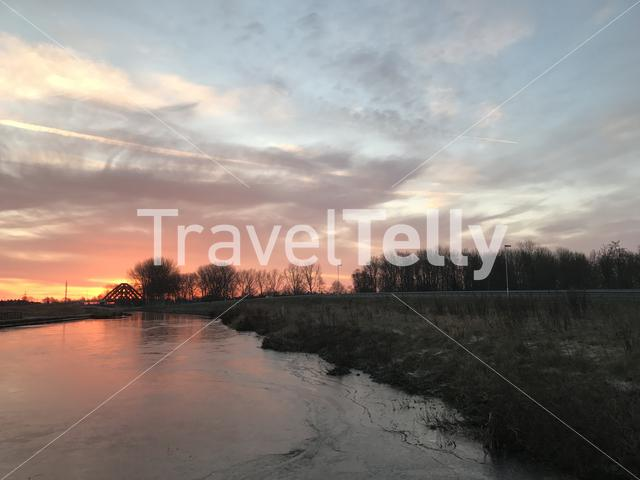 Sunrise in Sneek The Netherlands