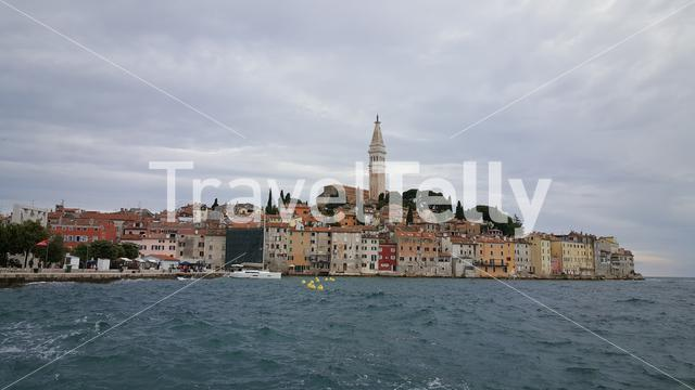 Church of St. Euphemia at waterfront Rovinj, Croatia