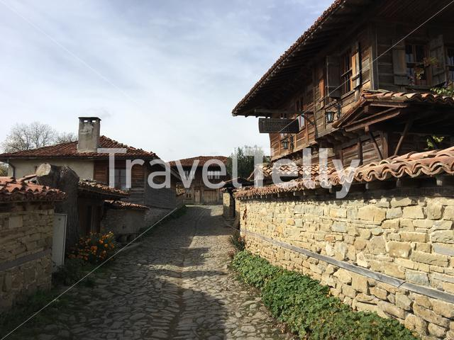 Traditional houses in the village Zheravna of Bulgaria