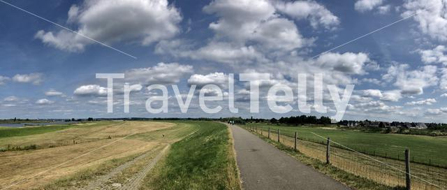 Panorama from a dike around Westervoort in The Netherlands