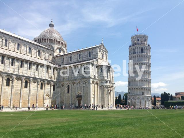 The Leaning Tower of Pisa (Tower of Pisa) is the campanile, or freestanding bell tower, of the cathedral of the Italian city of Pisa Italy