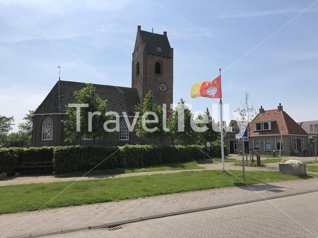 Church in the village Tersoal in Friesland The Netherlands