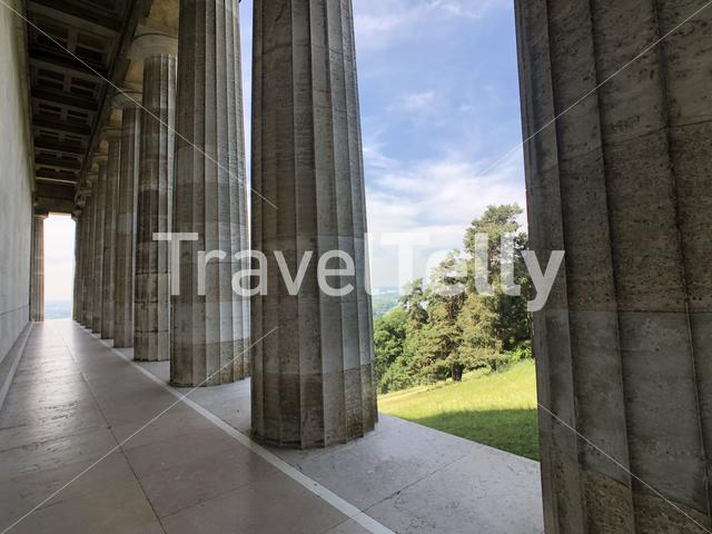 Pillars at the Walhalla in Donaustauf, Germany