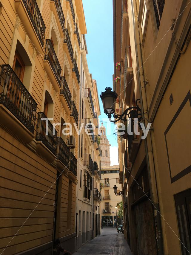 In the streets of Valencia Spain