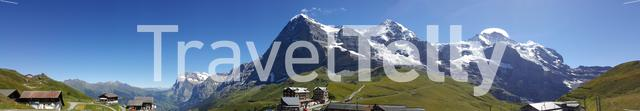 Panorama photo from the Kleine Scheidegg