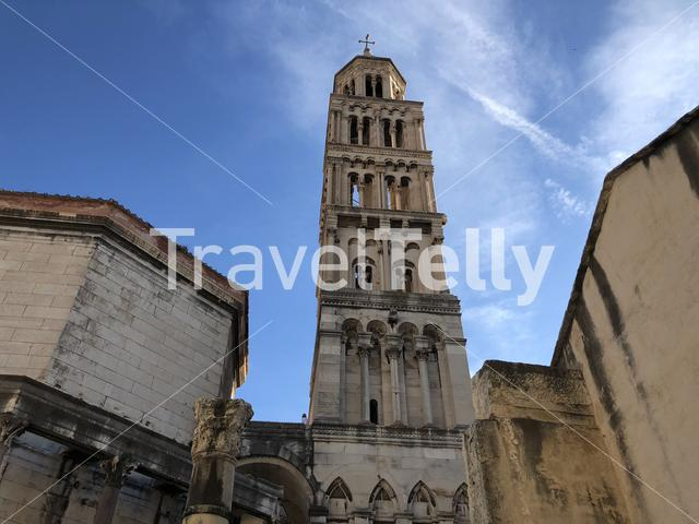 Cathedral and Bell Tower of St. Domnius in Split Croatia